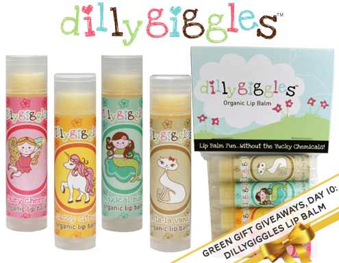 Green Gift Giveaways, Day 10: Dillygiggles Organic Lip Balms Thumbnail