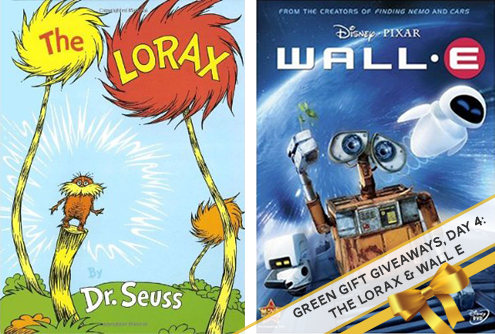 Green Gift Giveaway, Day 5: The Lorax & Wall E Thumbnail