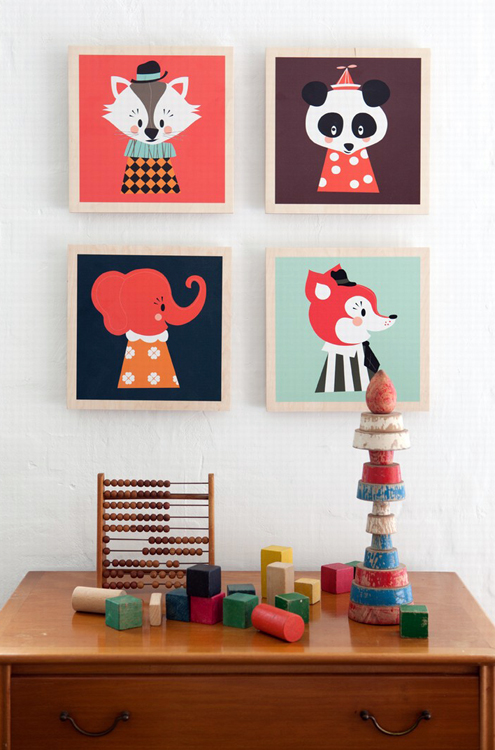 a dose of cute marionette pillows prints by ferm living. Black Bedroom Furniture Sets. Home Design Ideas