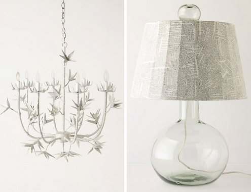 Post image for A Little Light Reading: Chandelier &#038; Table Lamp by Stray Dog Designs