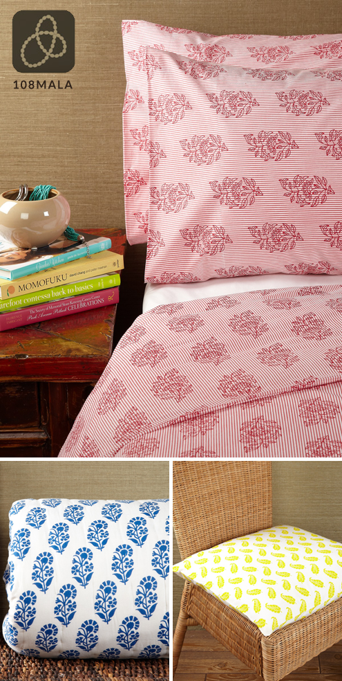Green Steal of the Week: Organic Bedding & Textiles from 108 Mala Thumbnail