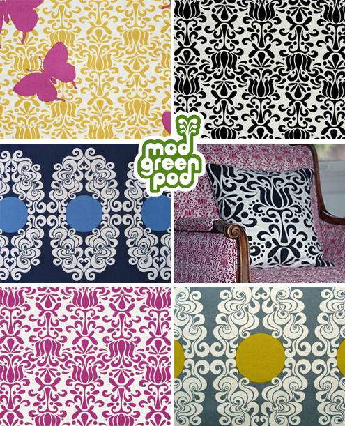 Post image for Green Steals: Mod Green Pod Fabric & Ikat Dinnerware