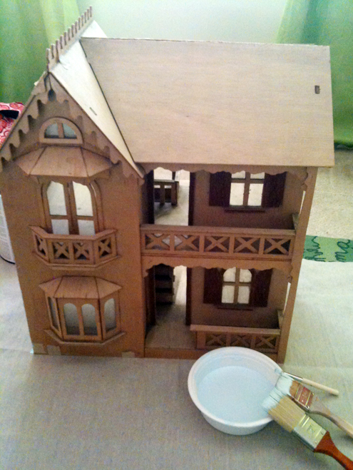 Mother S Day Diy Fun Finishing My Old Doll House