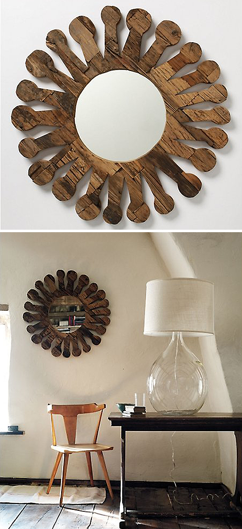 Post image for Reclaimed Luxury: Sun Spokes Mirror from Anthropologie