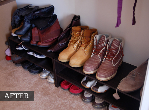 Exceptional ... Shoe Rack For Closet Floor. Lastly, I Had To Figure Out What To Do  About The Bevy Of Hats Living