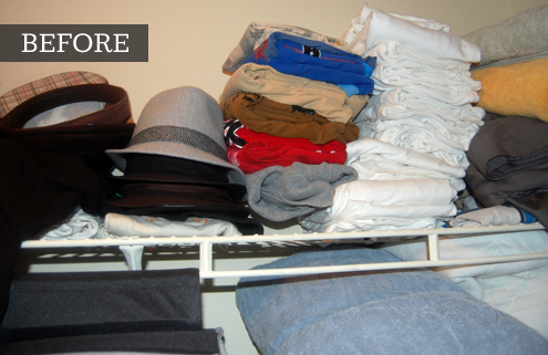 High Quality Before After Closet Organization. Amazing Compact Closet With Horizontal  Storage Featuring Top Shelf .