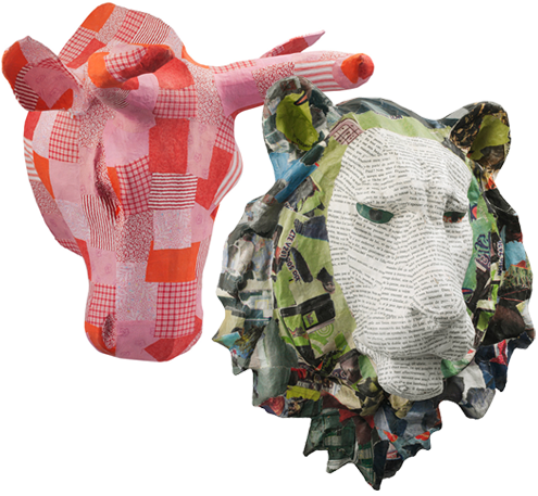 More Papier-mâché Animal Heads for Your Decorating Pleasure Thumbnail