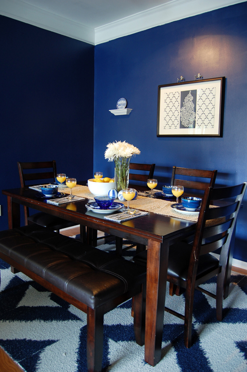 Before after our dining room is my new favorite room for Navy dining room ideas