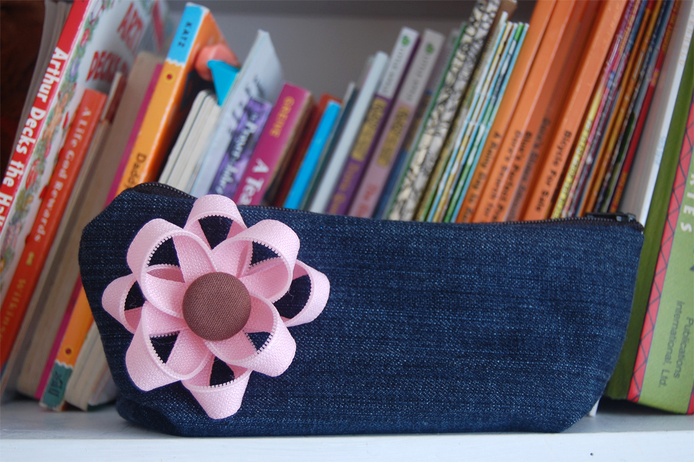 Make a Recycled Denim Pencil Case for Back to School Thumbnail