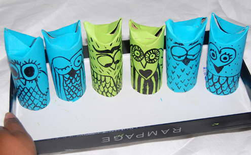 Two styles of diy toilet paper roll christmas ornaments - Toilet Paper Roll Owls Craftbnb