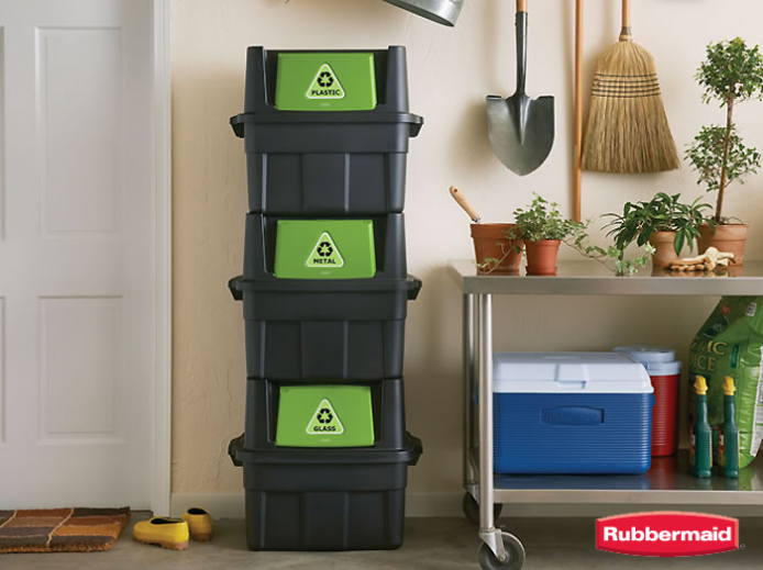 Recycling Bins For Small Spaces Part - 40: Whatever Your Needs, You Should Be Able To Find A Solution Among The Large  Assortment Of Rubbermaid Recycling Options At Homedepot.com, Where Youu0027ll  Have 44 ...