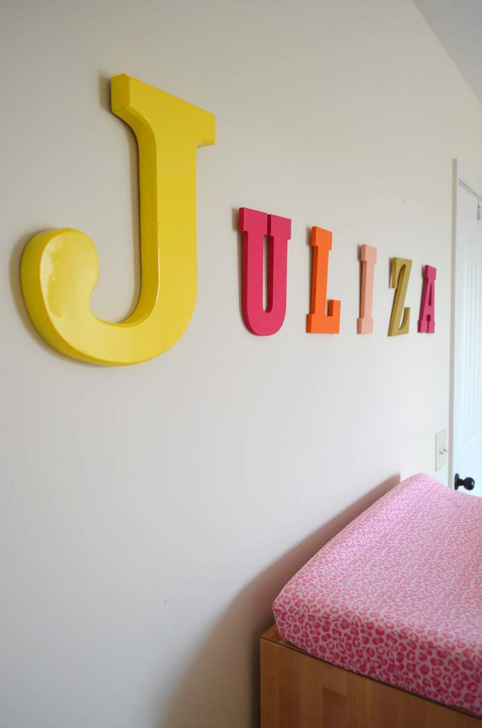 Personalize Baby's Room with Wooden Letters Thumbnail