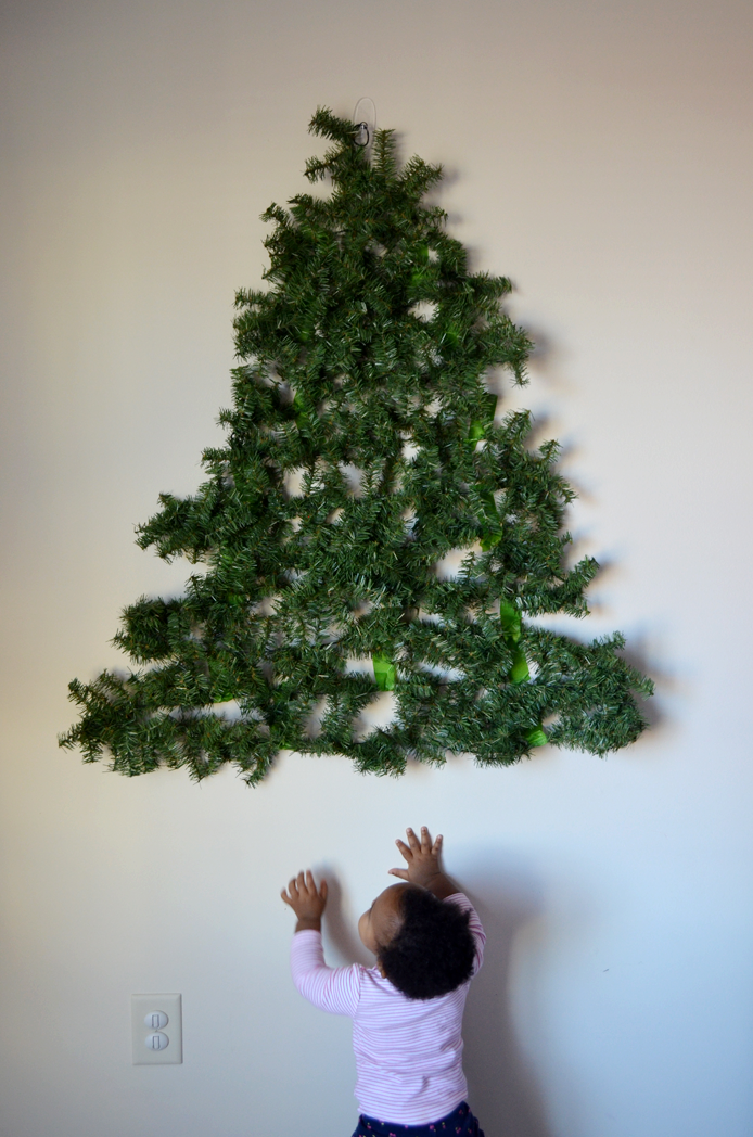 Diy Christmas Tree Lights On Wall : Have a Baby? Put a DIY Christmas Tree on the Wall