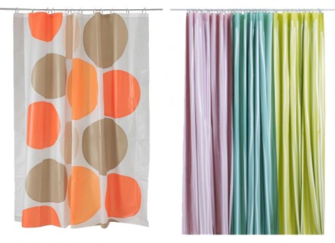 PEVA shower curtains from IKEA