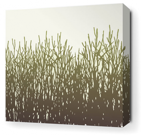 Field Grass Stretched Wall Art by Inhabit