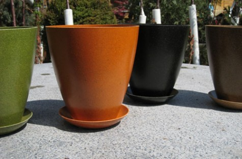 Rice Husk Urn Planters from Sprout Home