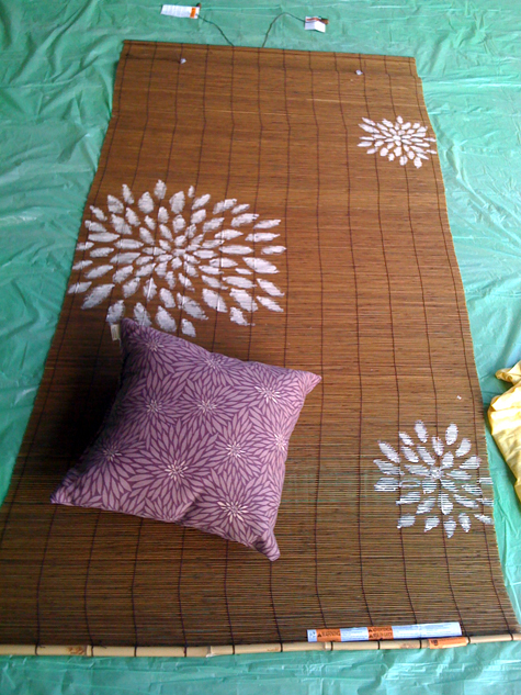 Green How To Customize Bamboo Blinds With A Graphic Freehand Paint Job