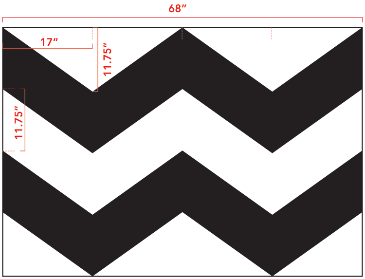 photograph regarding Free Printable Chevron Pattern titled Do it yourself Chevron Curtain Guideline with Template